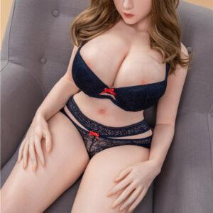 Sex doll sitting on the sofa